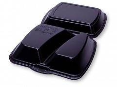 1215ZW - Menubox 2 vaks Zwart