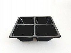 445500 - RPET 4-vaks trays 17 x 17 x 4,4 cm TapasSchaal
