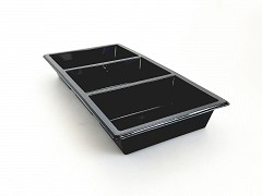 459400A - RPET 3-vaks trays 25 x 12 x 3 cm TapasSchaal
