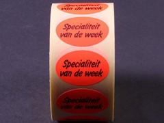 Etiketten Specialiteit van de week
