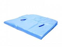 Kratzakken op pijpjes 60 + 2x25 x 80 cm 20 my Blauw