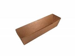 844.820 - FSC kraft/PLA A5 (kroket) snackbakjes 11,4 x 3,9 x 3,5 cm