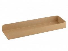 846.320 - FSC kraft/PLA panini snackbakjes 28 x 8 x 3 cm.