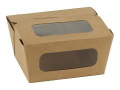847.420 - FSC kraft/PLA coated lunchboxen 11 x 9 x 6,3 cm