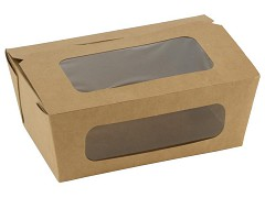 847.920 - FSC kraft/PLA coated lunchboxen 16 x 10 x 6 cm