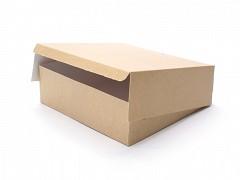 990729 - Milieu-kraft dozen 23 x 23 x 5 cm