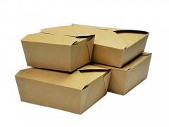 KRB1672 - Kartonnen Take Away BioBox 1950 ml Kraft
