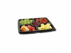 BLA93227 - Deli Platter zwart 31,5 x 25,5 cm 5-vaks