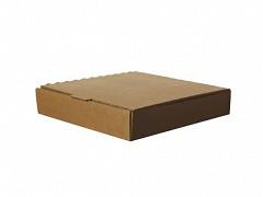 BOX009 - Pizzadozen kraft 23 x 23 x 4 cm