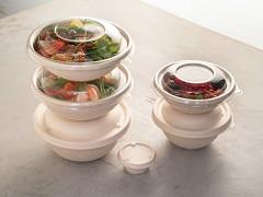 PUL52032PUL - Bagasse deksels tbv Buddha bowls 600, 750 & 1000 ml