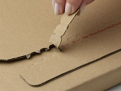 Boekverpakking wit 32,5 x 25cm + plakstrip