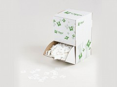 3303WIT - Clipps sluitingen wit in doos