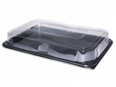 COM95537-25 - PET cateringschalen 55 x 37 x 8,5 cm Rectangular Platter