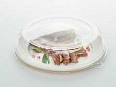 DOM57816 - Deksels R-pet tbv Ronde suikerriet borden ø 26 cm