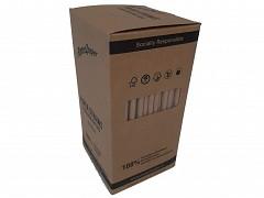 381.0002 - FSC papieren milkshakerietjes kraft 23,5 x Ø 8 mm