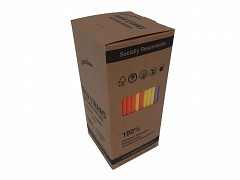 381.0004 - FSC papieren buigrietjes neon 19,7 x Ø 6 mm
