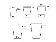 835.720 - Karton/PLA koffiebekers 210 ml
