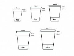 839.220 - Karton/PLA koffiebekers 120 ml