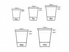 839.320 - Karton/PLA koffiebekers 360 ml