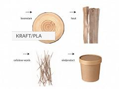 447.120 - Kraft/PLA soepbekers 360 ml Ø 9 cm