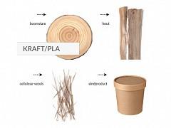 447.520 - Kraft/PLA soepbekers 780 ml Ø 11,7 cm