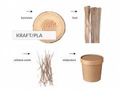 447.620 - Kraft / PLA soepbekers 960 ml Ø 13,5 cm