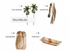 800.620 - Ronde palmblad borden Ø 30 cm