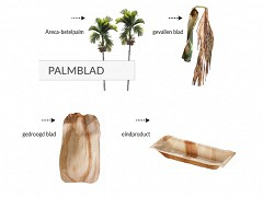 802.720 - Palmblad bootjes 11,5 x 6 cm