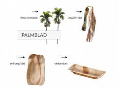 803.320 - Ronde palmblad kommen Ø 20 cm
