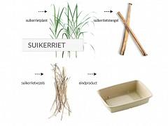 828.920 - Ronde suikerriet borden Ø 23 cm 3-vaks