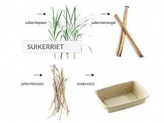 478.020 - Suikerriet A5 (kroket) snackbakjes1,4 x 3,9 x 3,5 cm