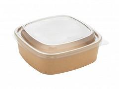 PAP14024 - Kraft square bowls 750 ml
