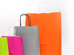 Papieren draagtassen 23 + 10 x 29.5 cm oranje