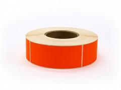 Rol à 1000 etiket 50 x 127 mm FLUOR rood permanent