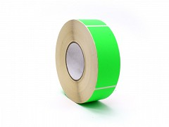 Rol à 1000 etiket 50 x 127 mm FLUOR groen permanent
