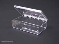 TD845 - Transparant doosje 8,9 x 6,5 x 2,5 cm