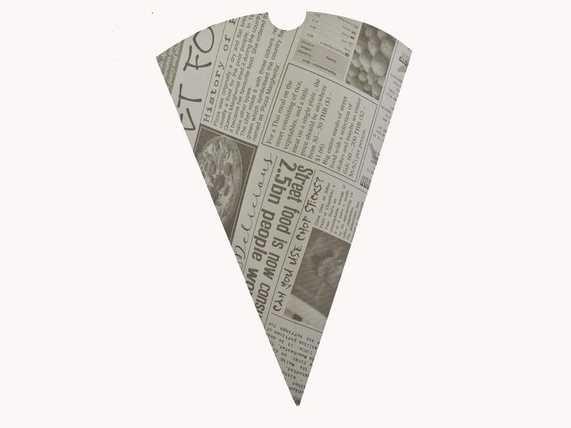 01CC1NP -Fish n Chips puntzakken newsprint 182 mm