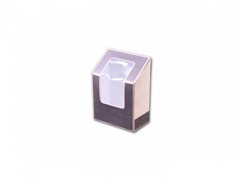 01TS5TCS - Wrap pack grijs / kraft 9 x 5 x 9 / 12,1 cm met venster