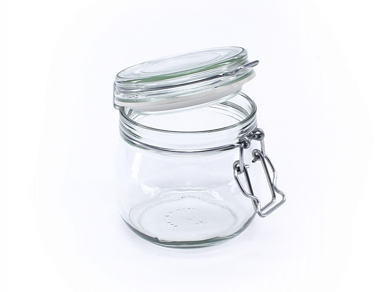 08580 - Glazen weckpotten 634 ml met vaste deksel