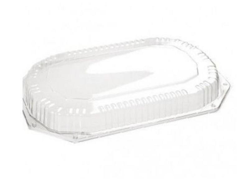 10042 - APET deksels tbv PS cateringschalen 42 x 28 x 2,5 cm