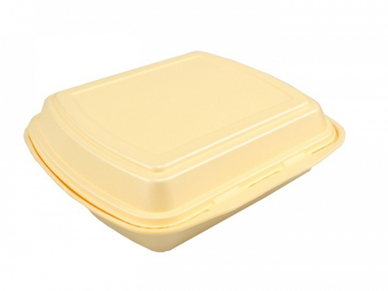 1210 - EPS schuim menuboxen 3 vaks 20 x 25 x 8 cm