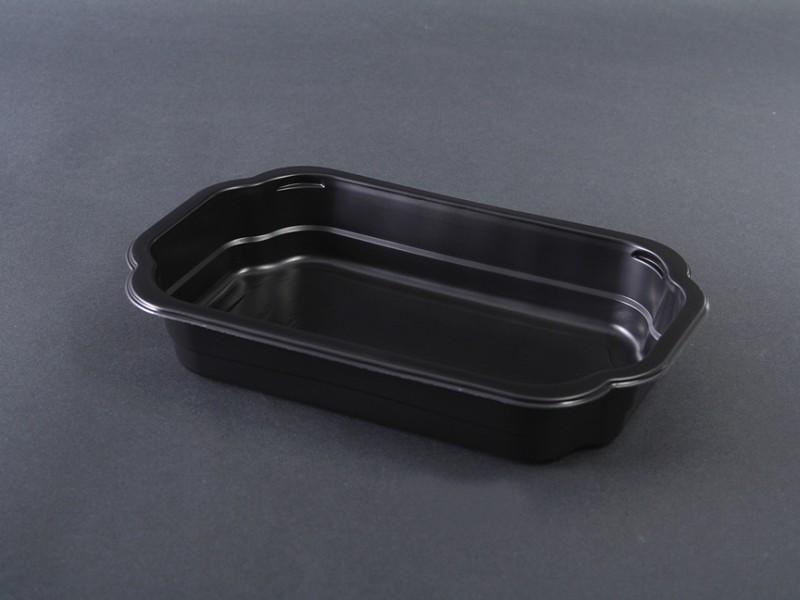 149882 - Take Away Tray PP 1 vaks Zwart 255 x 162 x 43 mm