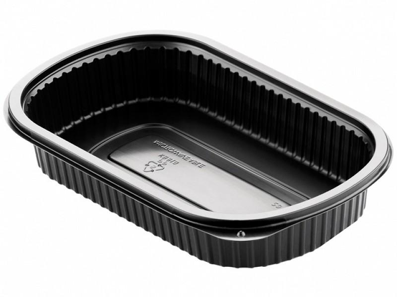 161182 - Mealbox 1 vaks 800 ml 24 x 15 x 4 cm Zwart Duni