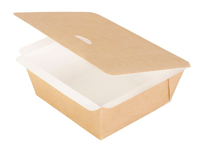162679 - Sealbare bakjes vierkant 11,5 x 11,5 x 5 cm Karton/PE Duni