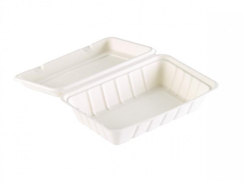 163079 - Bagasse Meal box 1 vaks 23,9 x 15,6 x 6,3 cm Duni