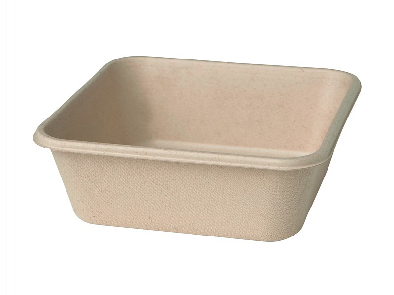 177006 - Bagasse Box 900 ml Bruin 15,5 x 15,5 x 5,3 cm Duni