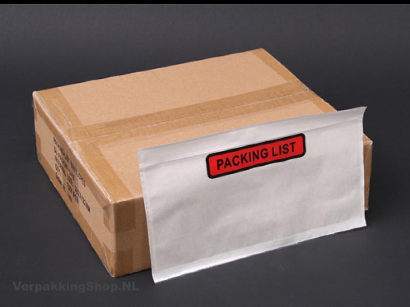 2087 - Paklijst enveloppen PACKING LIST 22,5 X 12,2 cm