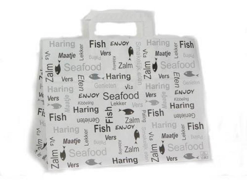 223.0018 - Papieren draagtassen 32 + 17 x 25 cm Enjoy Fish