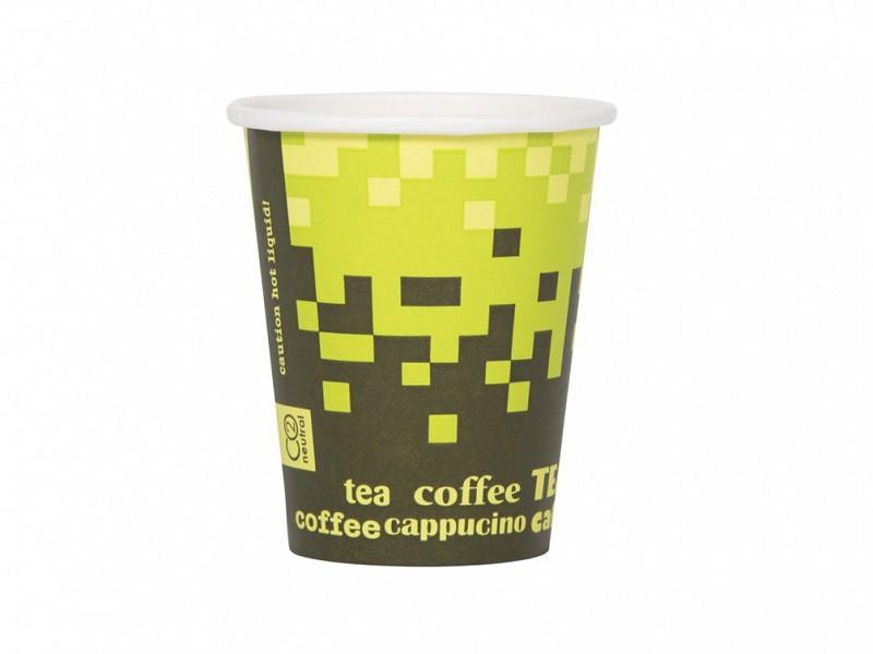 25602082 - Kartonnen drinkbekers 200 ml Retro Groen