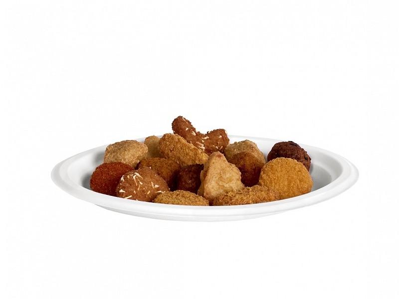 313.0004 - Ovale suikerriet borden 19 x 25,3 cm